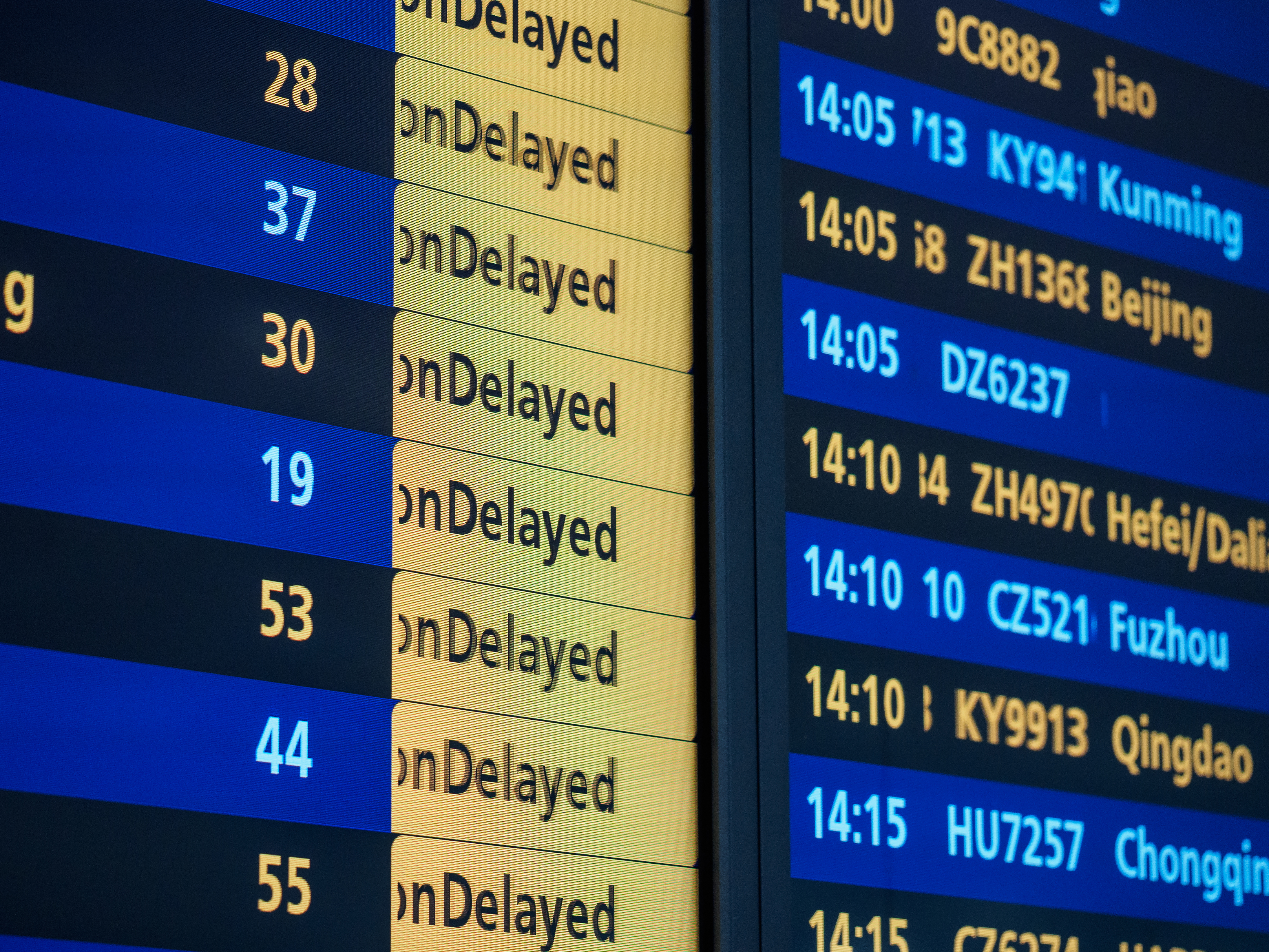 delayed train schedule