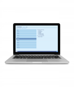 Integrated Chinese Volume 2 Online Workbook is shown on a laptop screen against a white background.