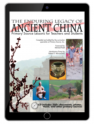 Cover image of the Enduring Legacy of Ancient China shown on a black tablet