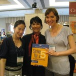 Author Weiman Xu (Strive for a 5) with Cindy Su and Eavan Cully of Cheng & Tsui